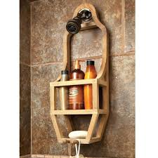 best shower caddy best teak shower tension shower caddy home depot