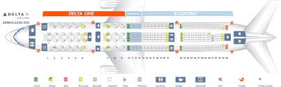 Delta Flight 200 Seating Chart Seat Map Airbus A330 200 Delta Airlines Best Seats In Plane