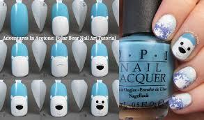Tutorial Tuesday: Polar Bear Nail Art! - Adventures In Acetone