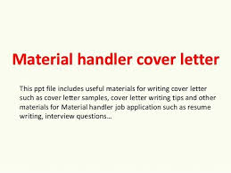 Material Handler Job Description Resume Material Handler Cover