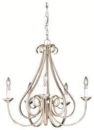 dover 5 light chandelier brushed nickel