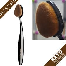 oval makeup brush. [missha]professional oval makeup brush/for bb cream fluid type blusher foundation/ brush s