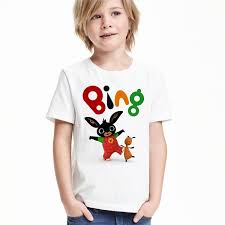 High Quality <b>Cartoon</b> t-shirt <b>Bing</b> Bunny T-shirt Boys Girls Unisex ...
