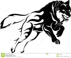перескакивать пламя волка иллюстрация вектора иллюстрации