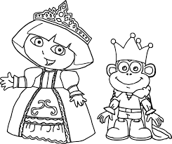 dora mermaid coloring page high quality