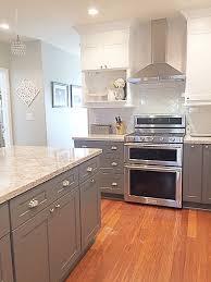 Cambria quartz Berwyn, two tone Kitchen, gray and white kitchen, quartz  countertop. Like the countertops!