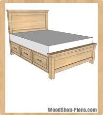 storage bed plans. Storage Bed Woodworking Plans