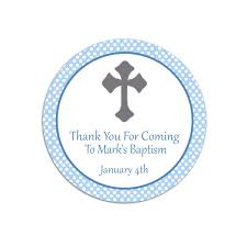 baptism thank you favor s template free baby shower baby
