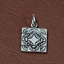 sterling silver quilt charm jewelry for quilters road to jericho 24 95 via etsy