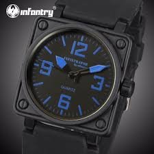 compare prices on tactical watches military online shopping buy infantry mens quartz watches military square face watches analog male clock tactical army black silicone