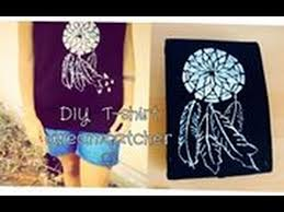 Dream Catcher Shirt Diy Enchanting DIY Tshirt Dreamcatcher ♡ YouTube