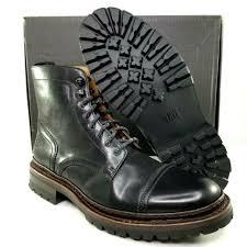 frye george norwegian cap toe boots mens size 9 leather combat black msrp 558