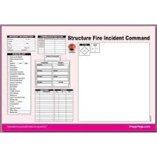 Mci Ics Chart Dms 05564 Structure Fire Incident Command Worksheet Refill