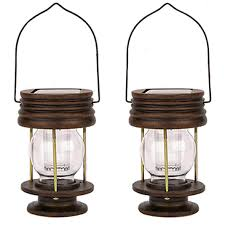 Gigalumi Hanging Solar Lights Obell Hanging Solar Lights 2 Pack Outdoor Garden Lights Led Retro Solar Hanging Lanterns With Handle For Pathway Yard Patio Tree Decor Table Lamp