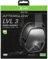 amazon com afterglow lvl 3 wired headset for xbox one video games
