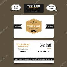 barbershop business cards hair salon barber shop business card stock vector lub_lubachka