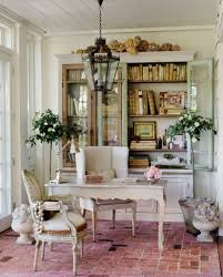 office decor ideas for work. Shabby Chic Work Office Decorating Ideas For Women With Brick Floor And Classic White Desk Decor I