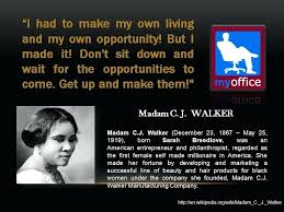 Madam Cj Walker Quotes Stunning Madam Cj Walker Quotes C J Brainy MachineUi