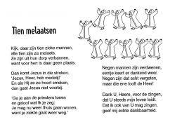 Kinderwoorddienst Gedichtje Tien Melaatsen