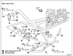 where is cooling system thermostat located 2002 2006 nissan block image