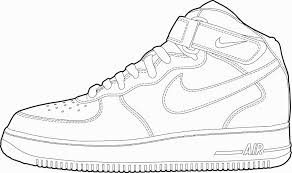Nike Shoes Coloring Pages Awesome Jordan Shoe Free Download And Csad