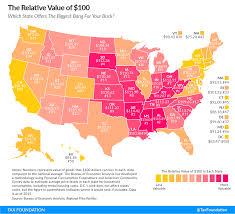 This Map Shows What 100 Is Actually Worth When Spent In