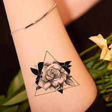 Vankirs черный 3d роза татуировки временные для женщин руки руку поддельные