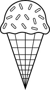 ice cream clipart black and white. Perfect Clipart Colorable Ice Cream Line Art  Free Clip Waffle Cone Play For Clipart Black And White Pinterest