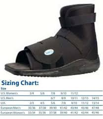 Darco Post Op Shoe Size Chart Details About Darco Slimline Cast Boot Shoe Black Square Toe New All Sizes Post Op Medsurg