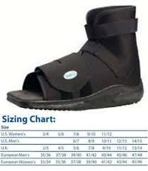 Details About Darco Slimline Cast Boot Shoe Black Square Toe New All Sizes Post Op Medsurg