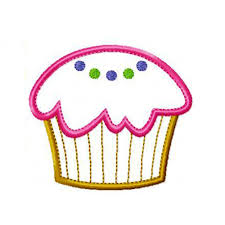 Cupcake Machine Embroidery Designs Cupcake And Cupcake With Candle Machine Embroidery Applique