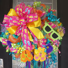 spring wreath for front doorBest Summer Mesh Wreaths For Front Door Products on Wanelo