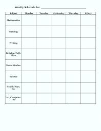 Class Schedule Template Online Teacher Class Schedule Template
