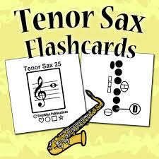 Tenor Saxophone Fingering Chart And Flashcards Stepwise
