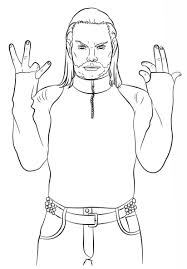 Jeff Hardy Coloring Pages Wwe Activity Free Printable Coloring Pages