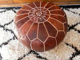 LEATHER FLOOR PILLOW ( pouf / footstool )