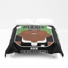 rugby black ruck scrumpacker hayes version duvet cover