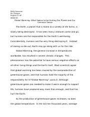english west hempstead high school course hero 6 pages global warming research paper