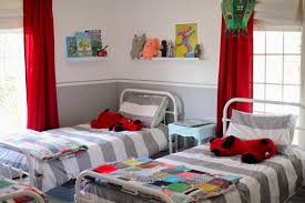 bedroom colors blue and red. White Pile Carpet Girl Toddler Bedroom Ideas Cream Maple Wood Sliding Bunk Bed Grey Plain Painted Laminated Wall Black Low Wooden Platform Round Green Colors Blue And Red I