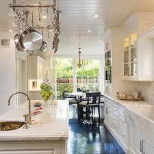 White Kitchen with Marble Apron Sink