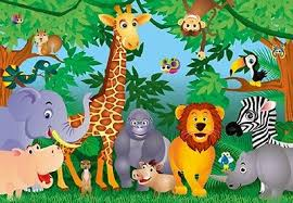 jungle wallpaper for kids. Simple For Photo Wallpaper JUNGLE ANIMALS Wall Mural Covering For Kids  To Jungle For Kids P