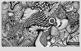 black and white wallpaper doodle