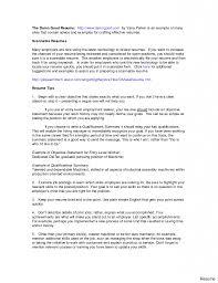 Resume Job Qualifications Examples Therpgmovie