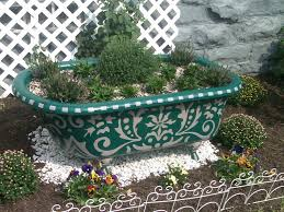 Outdoor Living:Bath Tub Planters Recycled Tubs Outdoor Planters Planters  From Recycled Materials Old Bathtub