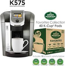 Instagram user lkostiuk725 enjoys her mornings, thanks to her keurig brewer and her beautiful. Amazon Com Keurig K575 Single Serve K Cup Pod Coffee Maker Platinum And Green Mountain Coffee Roasters Favorites Collection 40 Count Ships Separately Kitchen Dining