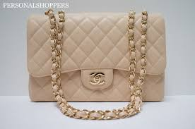 Chanel Designer Bags Chanel Beige Clair Single Flap Caviar Leather Ghw Jumbo Flap