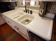 antique cast iron 6 1 2 ft vintage kitchen sink double drain