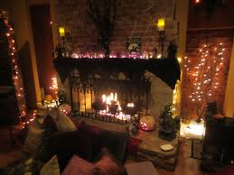 ... Spooky Halooween Fireplace Design With Scary Lights ...