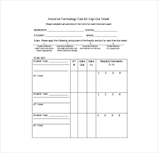 Sign Out Sheet Template - 14+ Free Word, Pdf Documents Download ...
