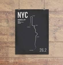 personalized new york city marathon map print